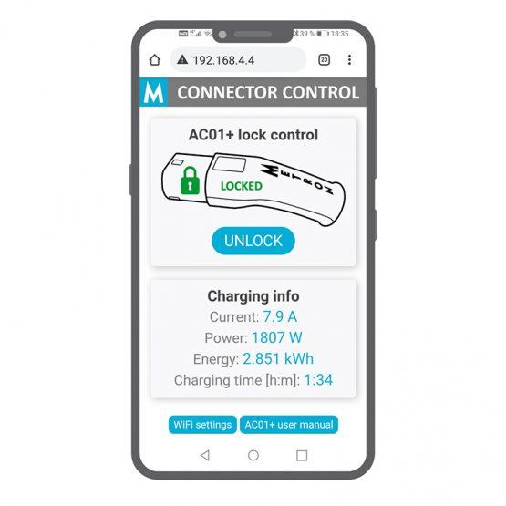 [AC01+] Type 2 to Schuko (1 x 16A) + WiFi