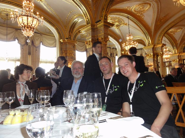 Lunch and prize giving ceremony at hotel Paris.